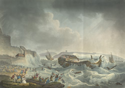 Distressing Situation of the Dutton East Indiaman [wrecked in Plymouth]